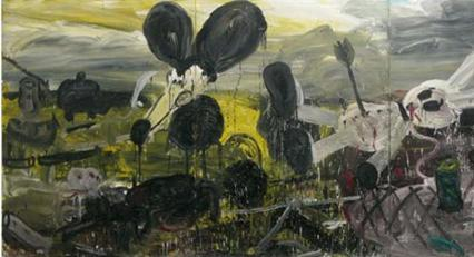 Armen Eloyan  disaster 2006  oil on canvas 240 x 540 cm bmp copy (Small)